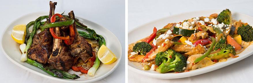 Griekse maaltijden van bij Athena Restaurant © Athena Restaurant