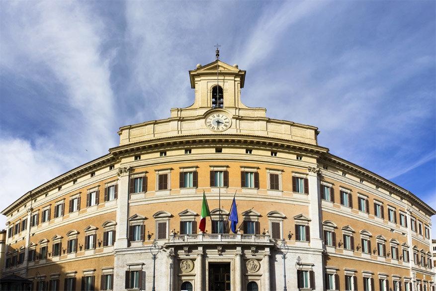 Wandelen door Rome: het Palazzo di Montecitorio