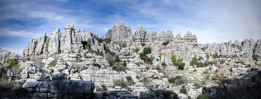 De karstrotsen in natuurpark El Torcal de Antequera
