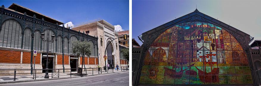 De architectuur van de Mercado Central de Atarazaras