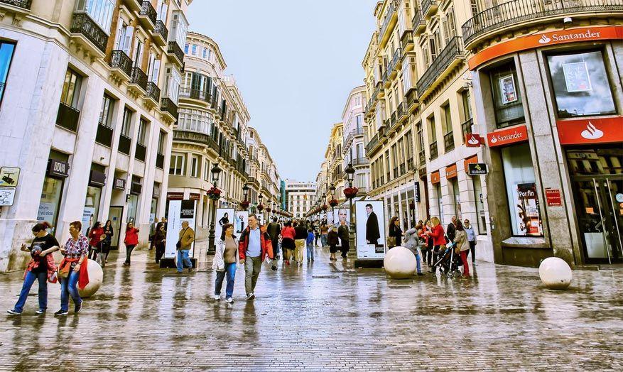 De winkelstraat Marques de Larios. © Redi Pérez