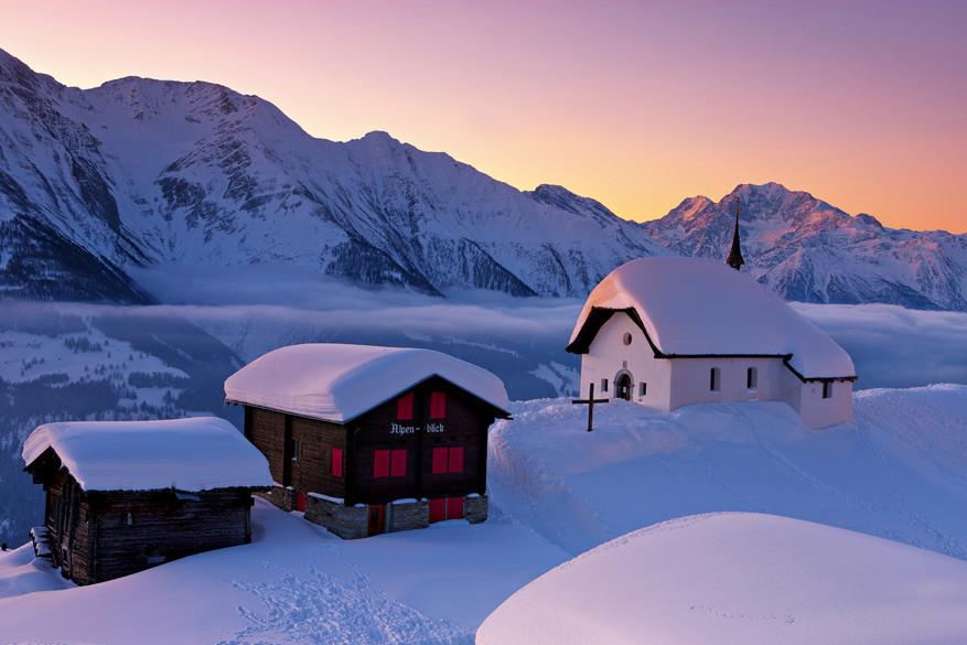 Niets dan sfeer op deze autovrije plek © Toerisme Zwitserland