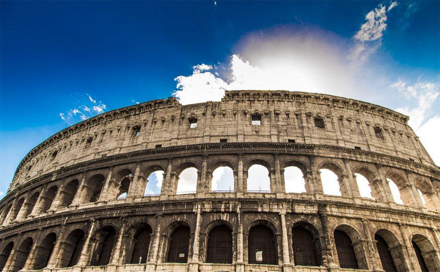 Wandelen in Rome: het Colosseum