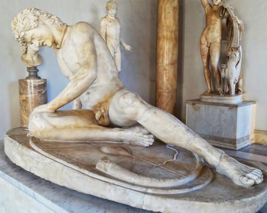 Wandelen in Rome: de stervende Galliër