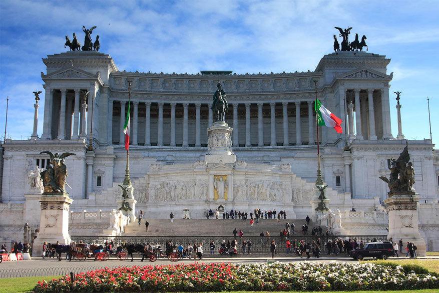 Wandelen in Rome: Il Vittoriano