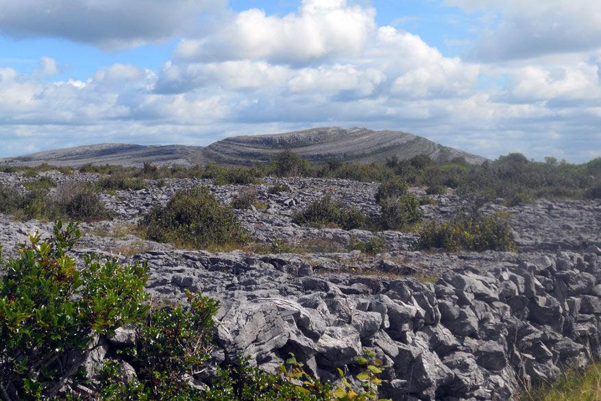 De rotsen van The Burren zorgen voor een apart landschap.