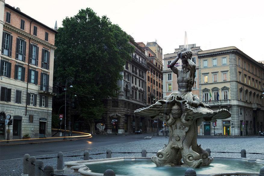 Wandelen in Rome: de Tritonfontein