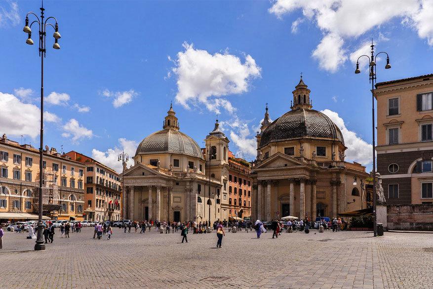 Wandelen in Rome: de tweelingenkerken