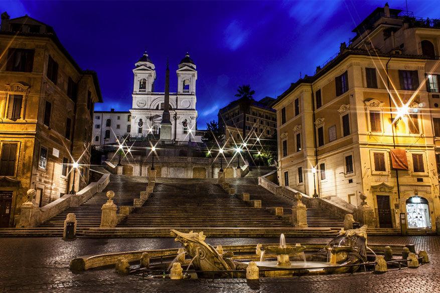 Wandelen in Rome: de kerk Trinità dei Monti