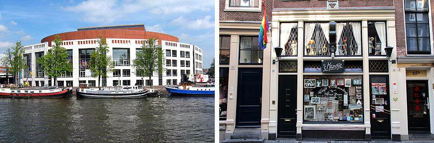 Amsterdam: de Stopera en café Het Mandje