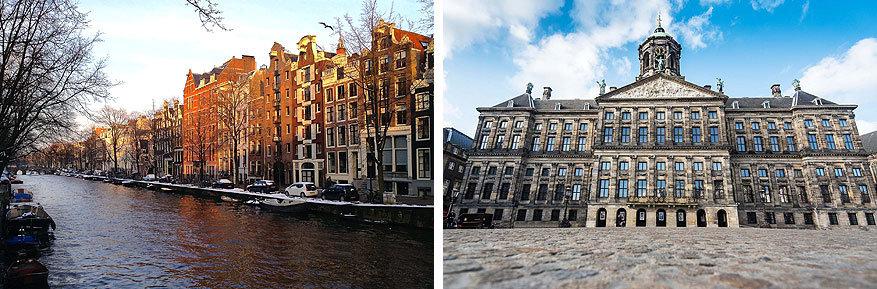 Amsterdam: de Herengracht en het Koninklijk Paleis aan de Dam
