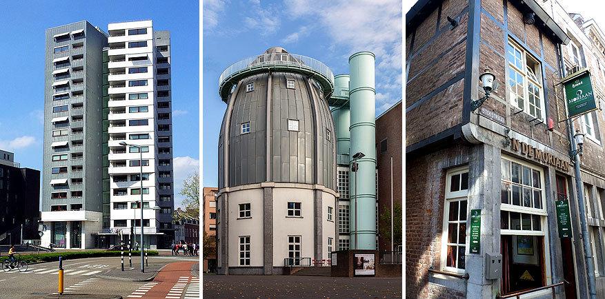 Maastricht: de toren van Siza, het Bonnefantenmuseum en het kleinste café In de Moriaan