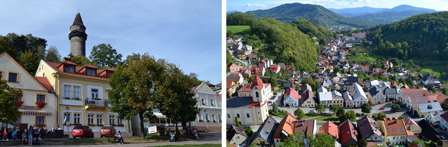 Moravië-Silezië: uitzicht op Štramberk vanuit de toren