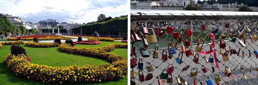 Salzburgerland: romantiek troef in de Mirabellgarten en op de Makartsteg brug