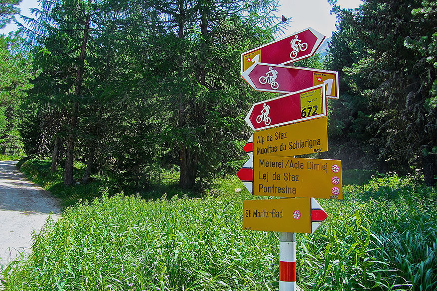 Sankt Moritz en Engadin: een fiets- en wandelparadijs