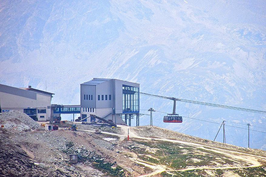 Sankt Moritz en Engadin: de kabelbaan van Corvatsch
