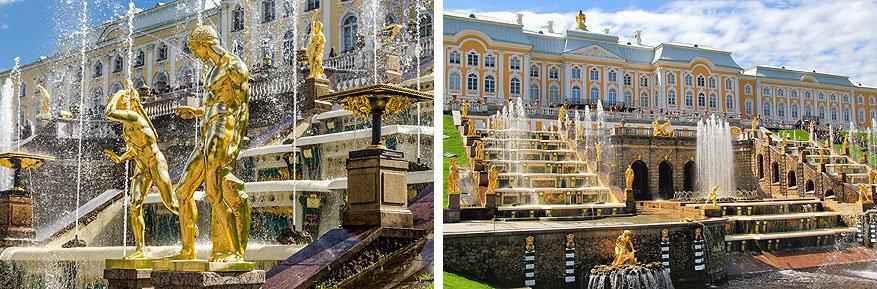 Sint-Petersburg: de gouden beelden en fonteinen van Alexandriapark in Peterhof