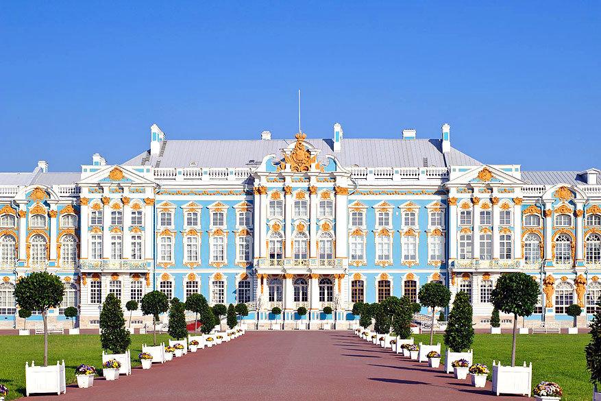 Sint-Petersburg: het Catharinapaleis in Poesjkin