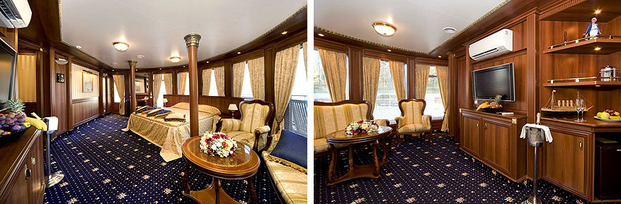 Volga Dream: luxesuites aan boord