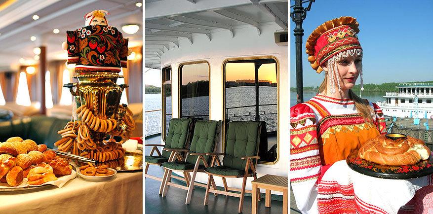 Volga Dream: traditioneel gekleed personeel laat je kennis maken met Russische specialiteiten