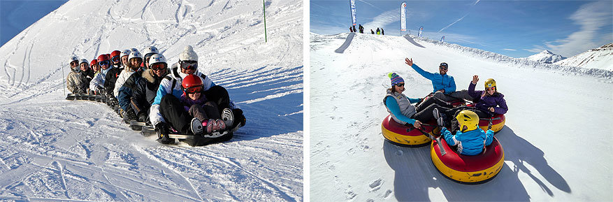 Orcières: de Snake Gliss en snow tubing