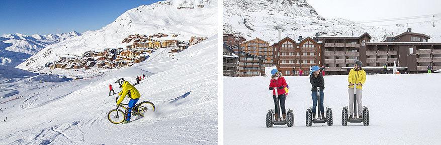 Les 3 Vallées: op een fiets of segway door de sneeuw, alles kan!