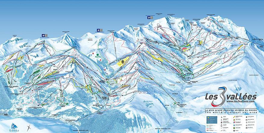 Les Trois Vallées: het skigebied in kaart