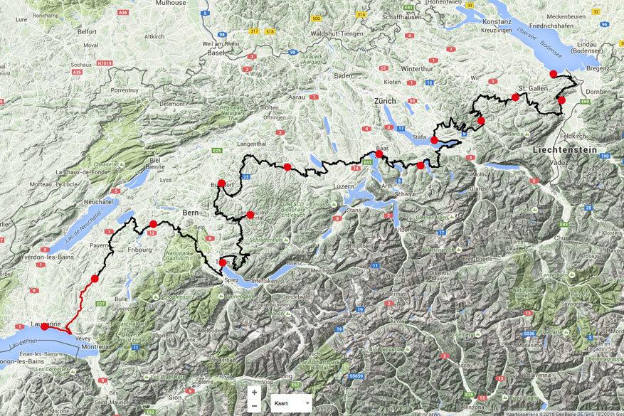 Fietsen in Europa: de Herzroute in Zwitserland