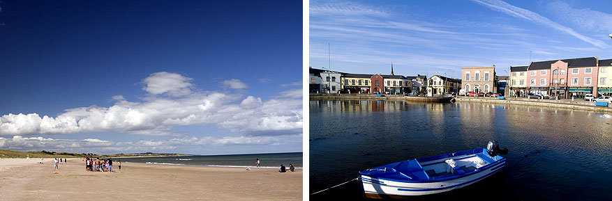 Filmsets in Ierland: het strand en de haven van Curracloe