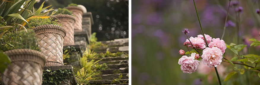 Filmsets in Ierland: details in de tuinen van Bantry House