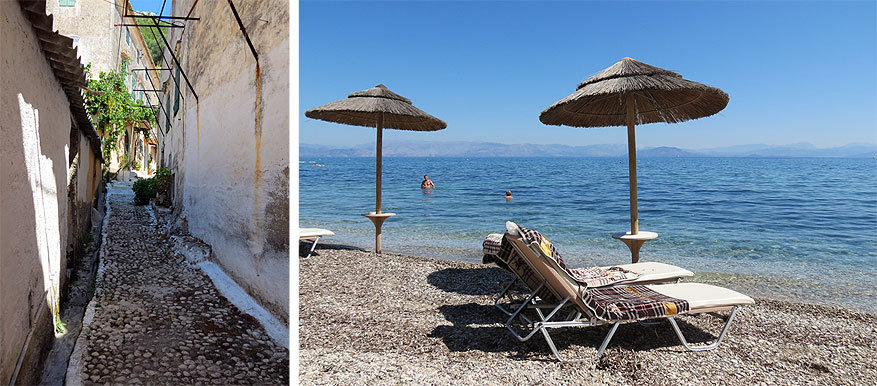 Korfoe: waar smalle steegjes en witte stranden de norm zijn