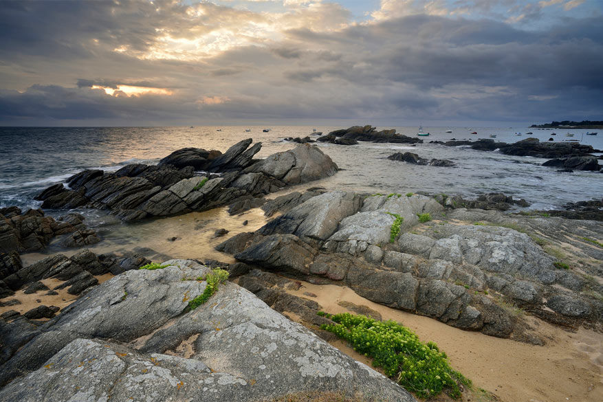 La Vendée: de scherpe rotsen van l'Île d'Yeu.