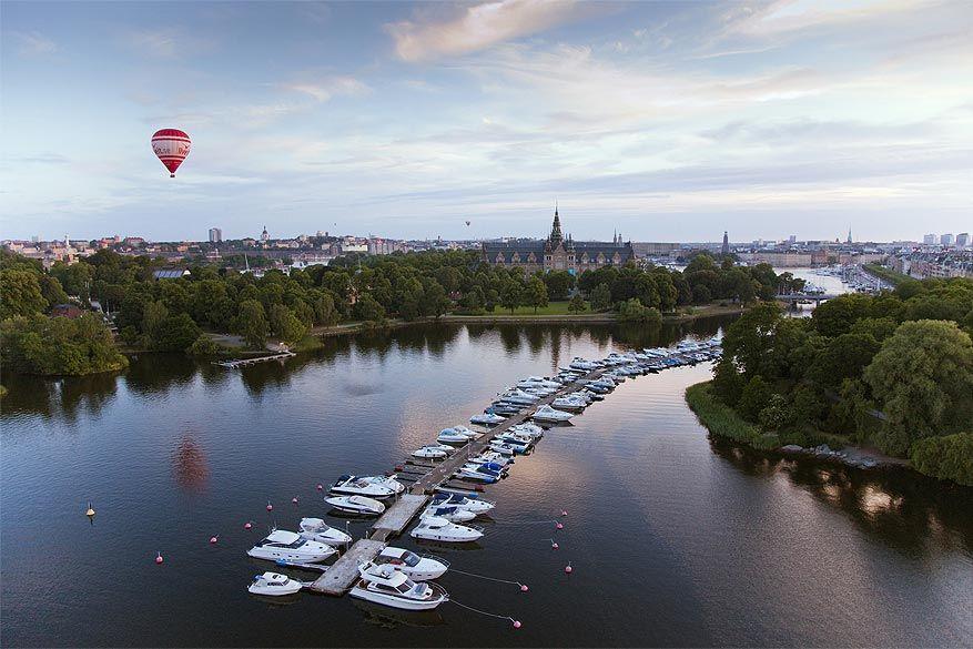 Scandinavië: het Mälarenmeer in Stockholm