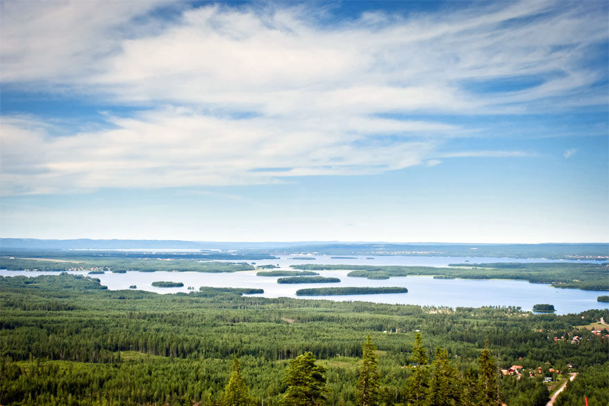 Scandinavië: het Siljanmeer in Zweden