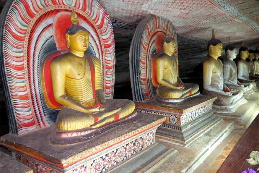 Sri Lanka: de rotstempels in Dambulla
