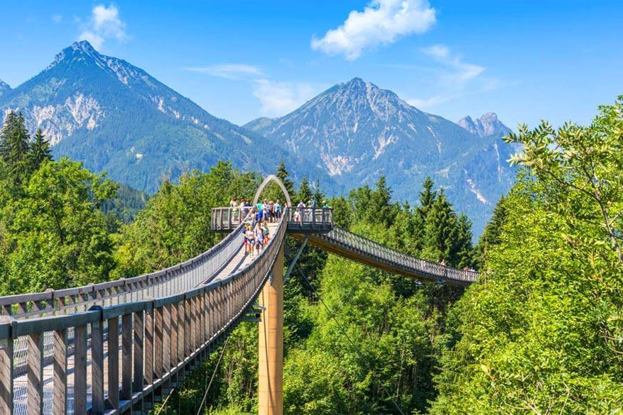 De Baumkronenweg in het Duitse Füssen