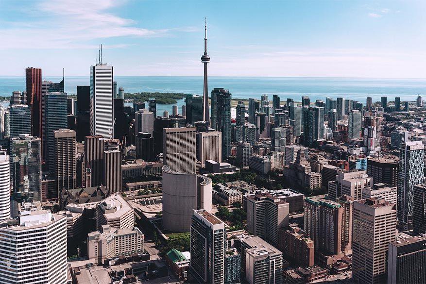 Canada: Toronto vanuit de lucht