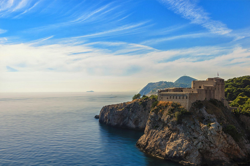 Game of Thrones in Kroatië: fort Lovrijenac bij Dubrovnik
