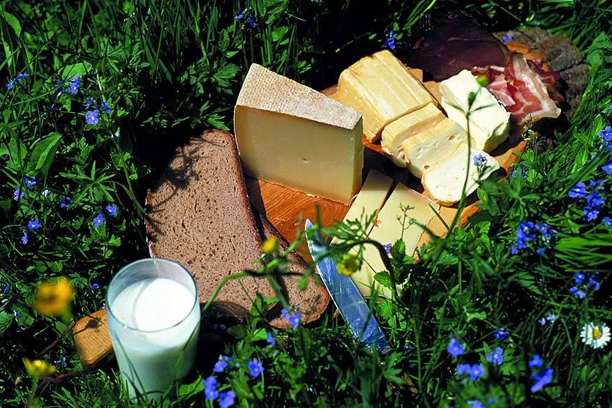 Kleinwalsertal: kaas proeven op de bioboerderij van Bernhard Fritz