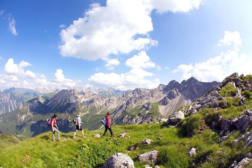 Kleinwalsertal: het dal beschikt over 185 km aan wandelpaden