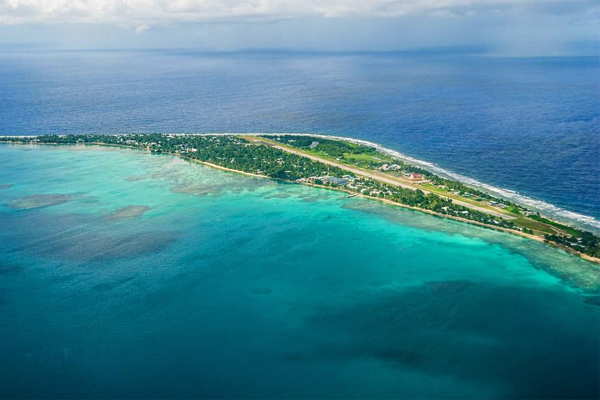 Het eiland Tuvalu
