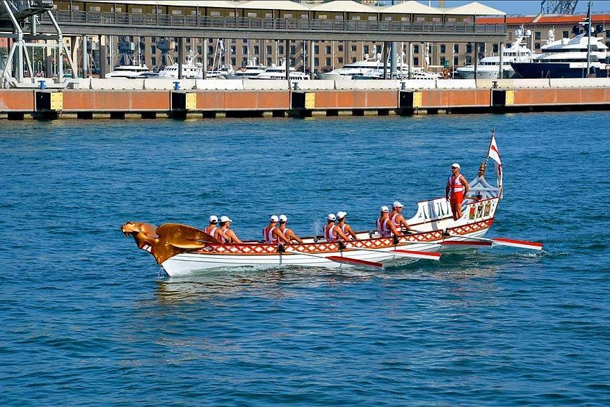 Genua: de regatta vindt elke vier jaar plaats in de stad