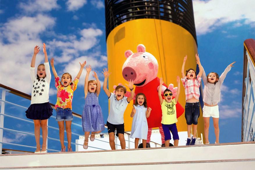 Peppa Pig aan boord van Costa Cruises