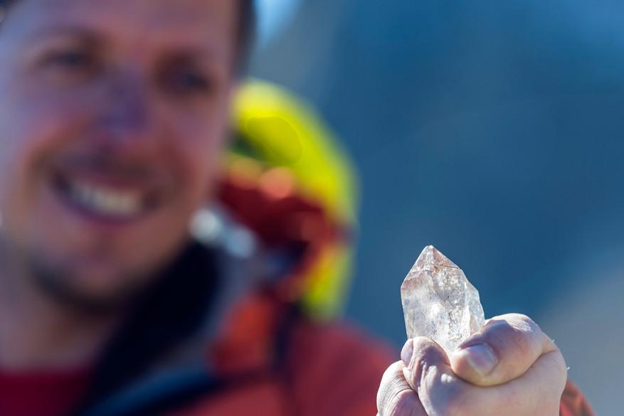 Met wat geluk vind je kristallen in de bergen
