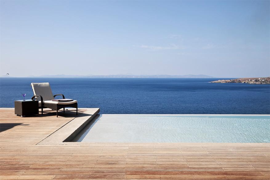 My Greek Villa: zicht op Kea vanuit Villa Achillios
