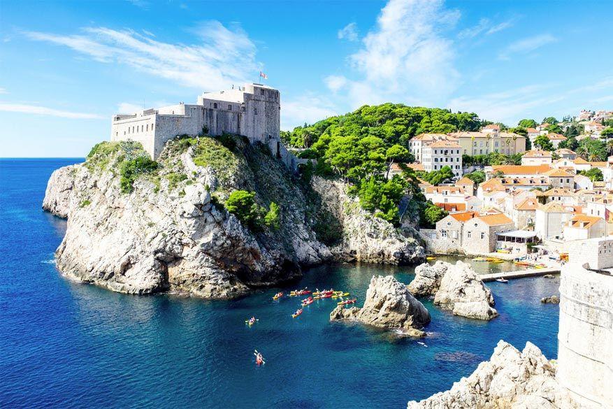 Kroatië: kajakken in Dubrovnik