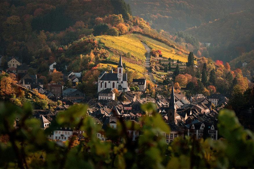 Uitzicht op Traben-Trarbach