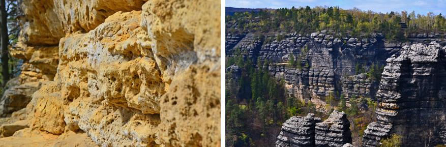 De kalkstenen rotsformaties van dichtbij en veraf  © Kiënta Martens