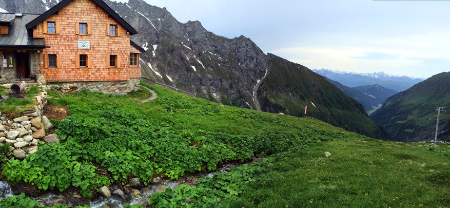 Wipptal: aangekomen aan de Geraer Hütte