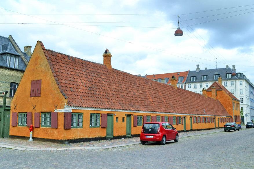 Kopenhagen: authentieke huisjes in de Rævegade en Krusemyntegade